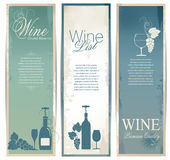 Wine banner collection Royalty Free Stock Photo