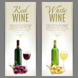 Wine Banner Set Stock Photo