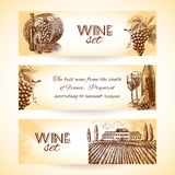 Wine banner set Stock Images