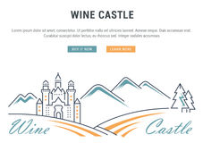 Wine Banner for Website Banner and Landing Page Stock Photography