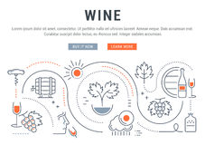 Wine Banner for Website Banner and Landing Page Stock Photo