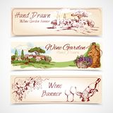 Wine banners set Stock Image