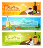 Wine Banners Set Royalty Free Stock Images