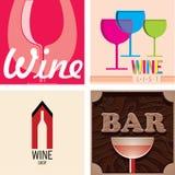 Wine and bar Stock Photos