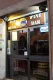 Wine bar. Entrance of a wine bar and pubs in Rome Stock Images