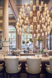 Wine bar in luxury restaurant Stock Photo