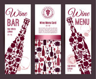 Wine bar menu card.... Royalty Free Stock Photos