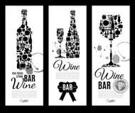 Wine bar menu card.... Stock Photos