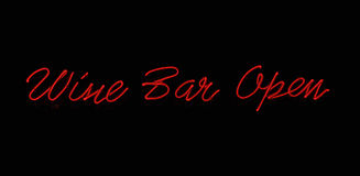 Wine Bar Neon Sign Stock Photo