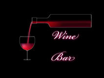 Wine bar poster Royalty Free Stock Photo