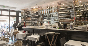 Wine bar and restaurant Royalty Free Stock Images