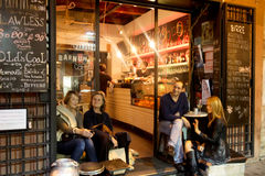 Wine bar in Rome. Typical wine bar in the Trastevere neighborhood of Rome Royalty Free Stock Photography