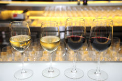 Wine on the bar's Royalty Free Stock Photo