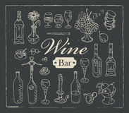 Wine bar Royalty Free Stock Photography