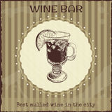 Wine bar sign and ads template Stock Photography