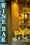 Wine bar sign in Florence, Italy  Royalty Free Stock Image