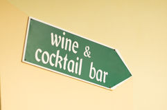 Wine bar sign Royalty Free Stock Image