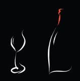 Wine bar symbol Stock Photography