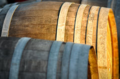 Wine Barrel. Barrel used to store vintage Wine Stock Photo