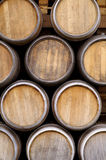 Wine Barrel. A big stack of vine barrel Royalty Free Stock Photography