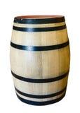 Wine barrel. Wooden oak wine barrel isolated on white background stock photography