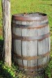 Wine Barrel. Rustic Wine Barrel at a historic site, Seneca Creek Park MD stock photography