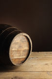 Wine barrel. Wooden old wine barrel, close up Stock Photo