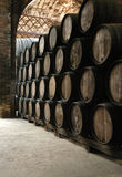 Wine barrel. In a cellar Royalty Free Stock Images