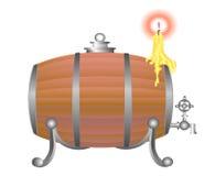 Wine barrel. Big wine barrel with candle Stock Photos