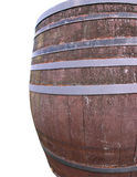 Wine barrel. Large old wooden wine barrel isolated on the white royalty free stock photography