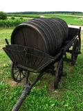 Wine barrel. On the cart Royalty Free Stock Images