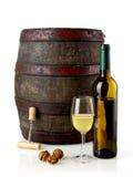 Wine and barrel Stock Photos