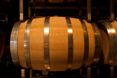Wine Barrel in Cellar Stock Photography