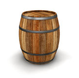 Wine barrel (clipping path included) Stock Image