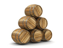 Wine barrel (clipping path included) Stock Photography