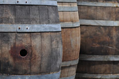 Wine Barrel Close Up Stock Images