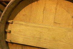 Wine barrel detail in an aging process Royalty Free Stock Photos