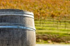 Wine Barrel in Fall Royalty Free Stock Images