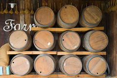 Wine barrel in the farm, countryside of Thailand Royalty Free Stock Image
