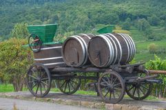 Wine Barrel,german Wine Route,Germany Royalty Free Stock Image