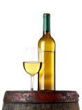 Wine on barrel Stock Photos