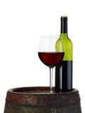 Wine on barrel Royalty Free Stock Photo