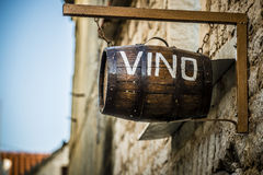 Wine barrel. Hangging on the wall for decoration royalty free stock photos
