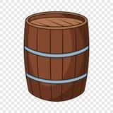 Wine barrel icon, cartoon style. Wine barrel icon. Cartoon illustration of wine barrel vector icon for web vector illustration