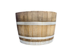 Wine Barrel Isolated on White royalty free stock photography