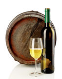 Wine and barrel Royalty Free Stock Photo