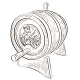 Wine barrel isolated on white Royalty Free Stock Images