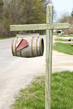 Wine Barrel Mailbox Royalty Free Stock Images