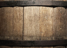 Wine barrel in a old wine cellar. Stock Photos