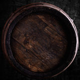 Wine barrel over grunge background Royalty Free Stock Photos